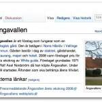 Ängavallen i Wikipedia